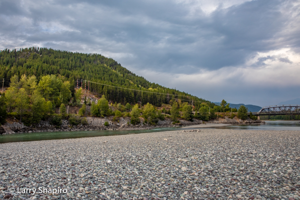 river bed and mountains in Terrace BC