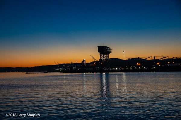 Bremerton WA at sunset