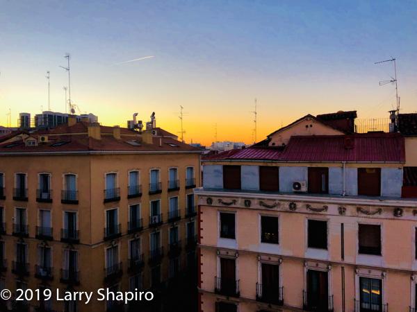 sunrise in Madrid