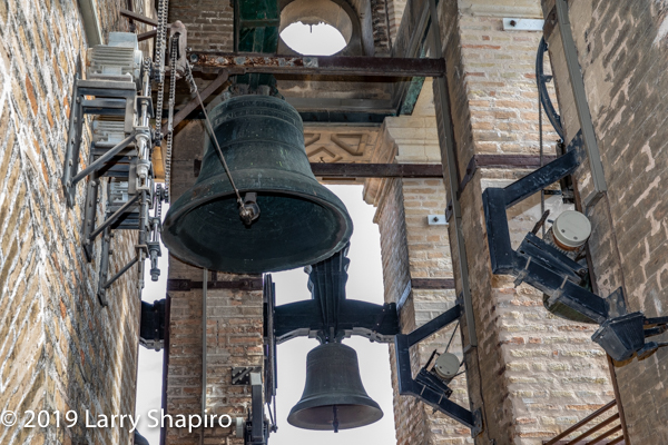 bells in the Great Cathedral tower in Seville Spain
