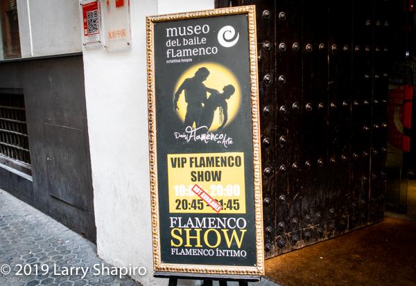 Flamenco Show poster in Seville Spain