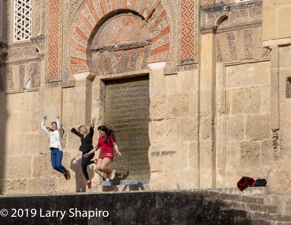 girls playing in the Jewish section of old Cordoba