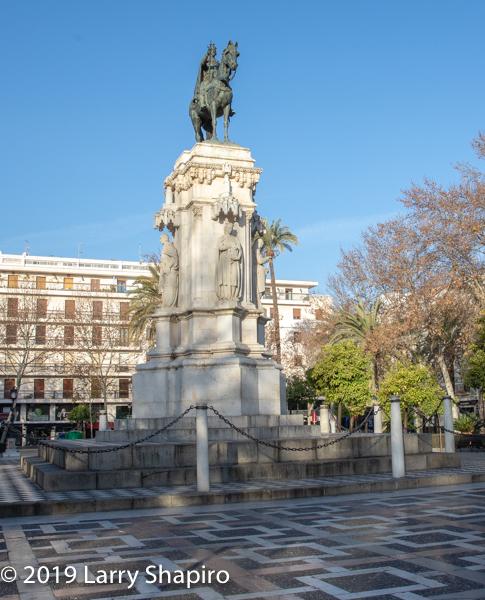 monument in Seville Spain
