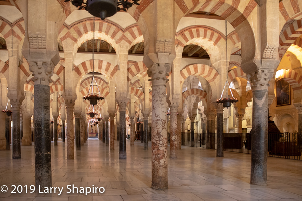 inside the Cathedral Mosque in Cordoba