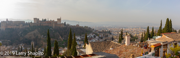 Beautiful view of Granada