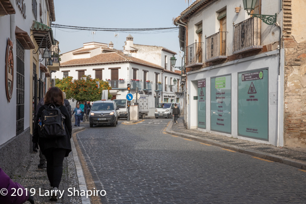 Beautiful street scene in Granada