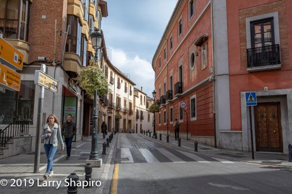 Beautiful street scene in Granada