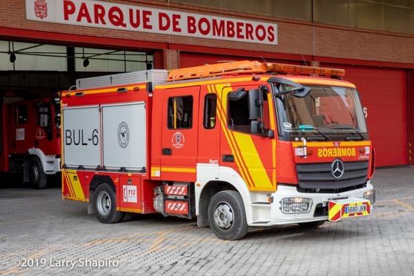 iturri pumper fire engine in Granada Spain