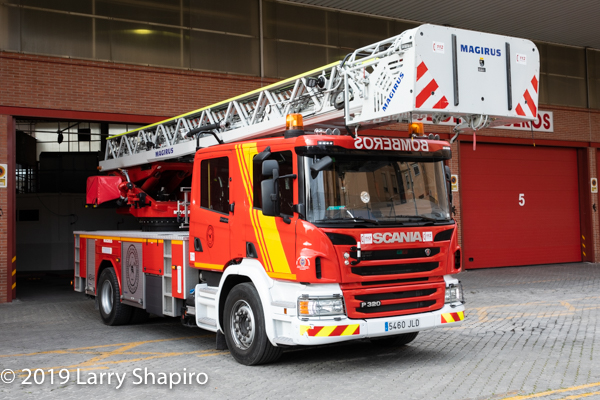Magirus aerial on Scania chassis