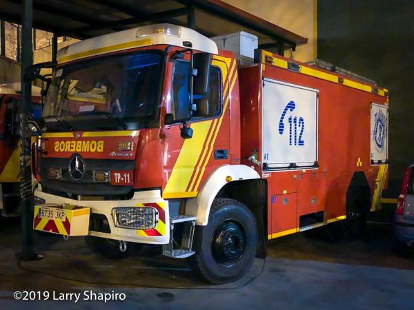 iturri fire engine in Madrid