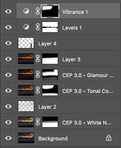 Photoshop layers to create a dramatic image with NIK plug-ins