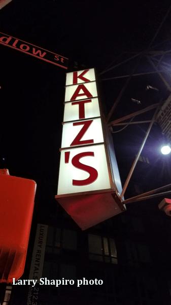 Katz's Deli sign in NYC