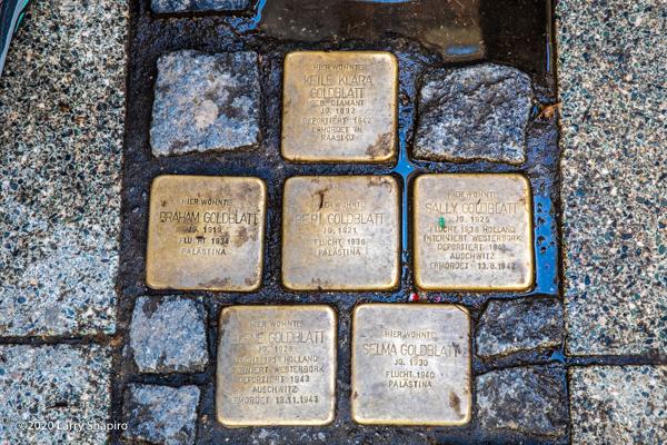 Frankfurt Stolpersteine honor victims of Nazi Germany