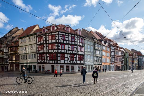 Colorful buildings in Erfurt Germany