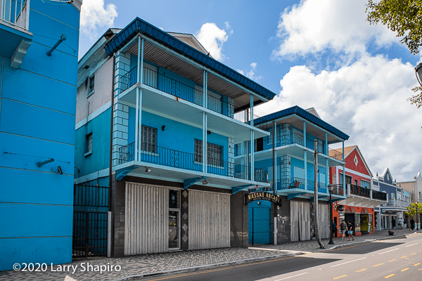 colorful vacant buildings in Nassau The Bahamas