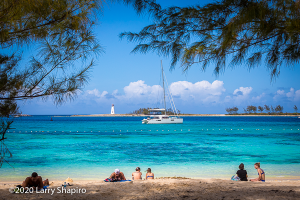 beautiful catamaran in Nassau Harbour