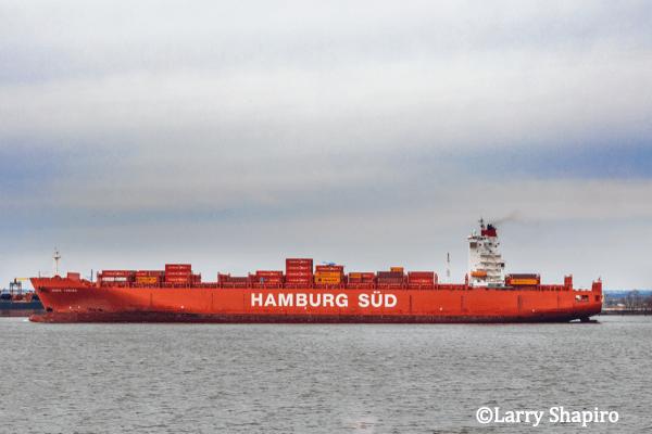 Hamburg Sud freighter