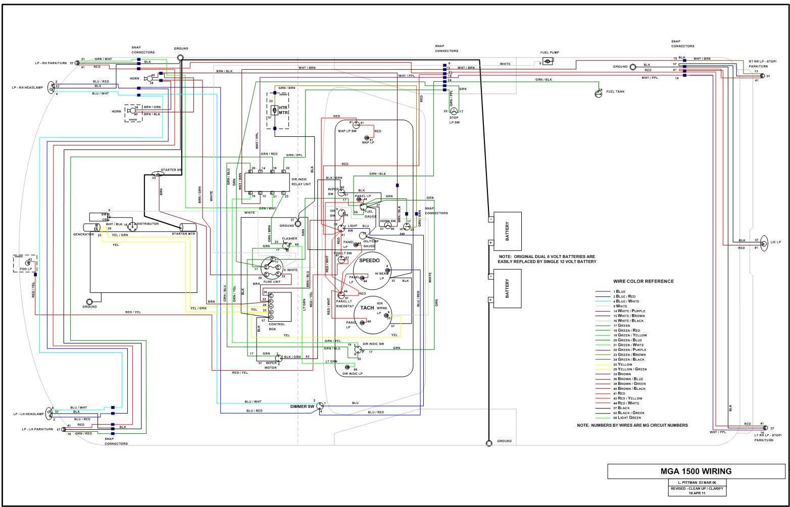 hight resolution of mga subassembly wiring wiring schematics for cars mga  1500 wiring diagram