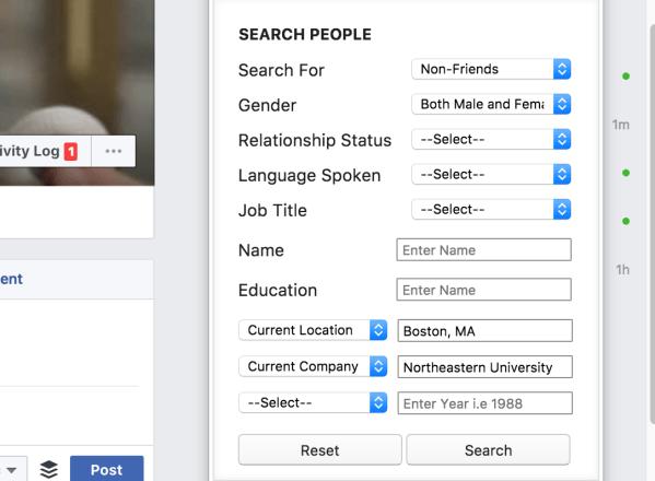 advanced facebook search
