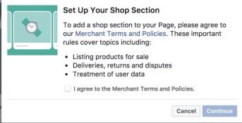 Set up your Facebook shop
