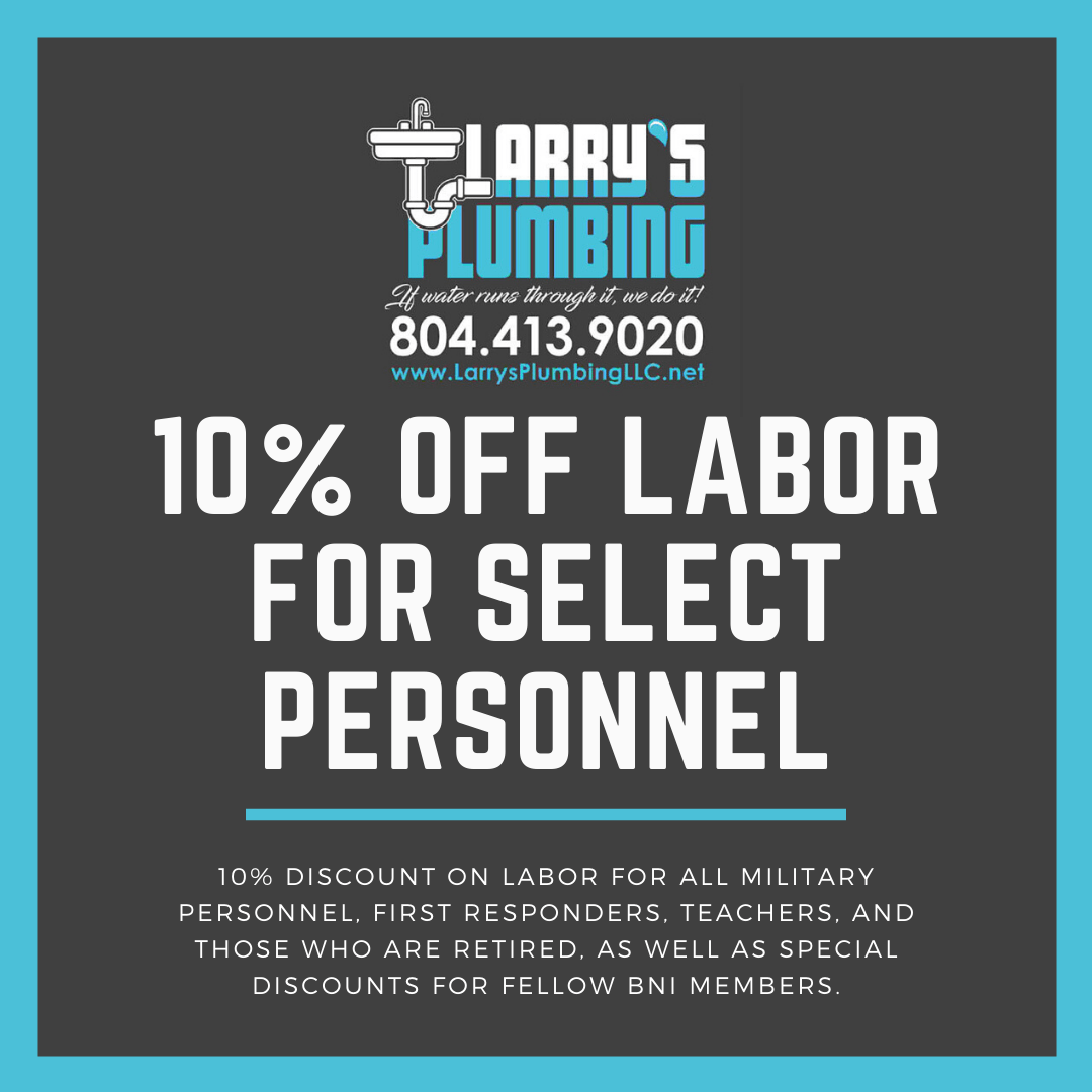 Discount Offer by Larry's Plumbing