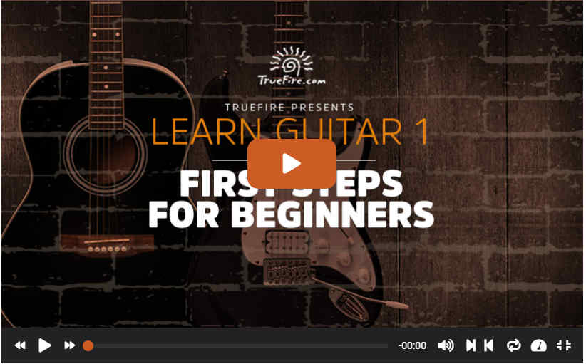 First Steps For Beginners Video