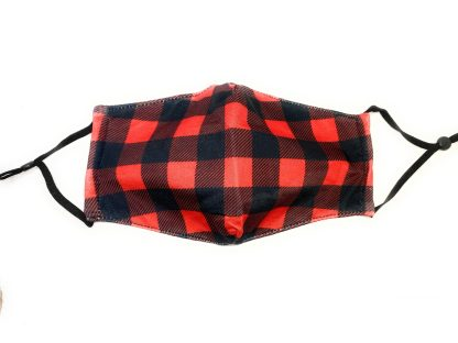 Red plaid ready for anything reusable mask