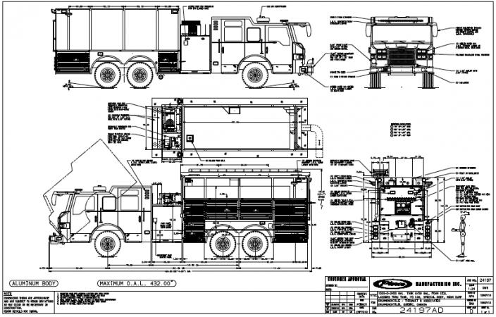 Un Nouveau Camion Incendie Pompe Citerne Pierce Pour