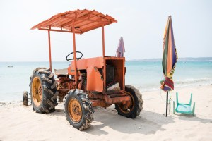 Street Photography, Asia, Taiwan, Nothing to Declare, Photo Book, Beach, Umbrella, Sun, Sea, Sand, Tractor, Chair, Tourism