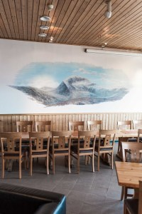 Painting, Mountain, Image, Restaurant, Chairs, Tromsö, Street Photography, Photo Book, Lars Hübner, Fotograf, Norway, Reportage, Visual Storytelling