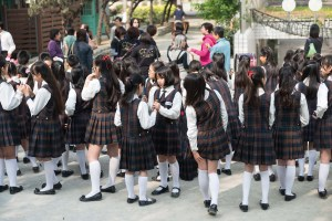 School Girls, Uniforms, Bells, Street Photography, Asia, Taiwan, China, Photo Book, Lars Hübner, Fotograf, Nothing to Declare,