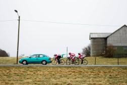 Alexander Kristoff drev med spurttrening på Tungenes utenfor Stavanger tidlig i OL-sesongen sammen med lokale syklister og trener og stefar Stein Ørn.