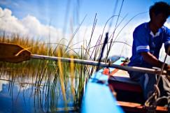 Hver dag, 365 dager i året, går Edwin Quispe ut for å trekke sine garn på Titicacasjøen. Fisket og to melkekyr holder han og kona i live.