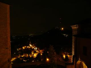 Night view from the castle