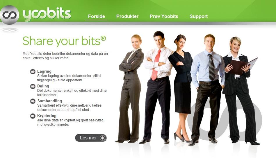 Yoobits - hjemmeside