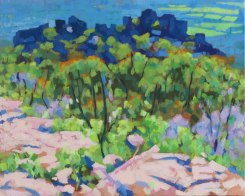 From Boronia Peak, 2012, acrylic on linen, 82 x 67 cm. $1850