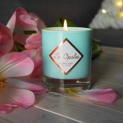 jasmine-scented candle