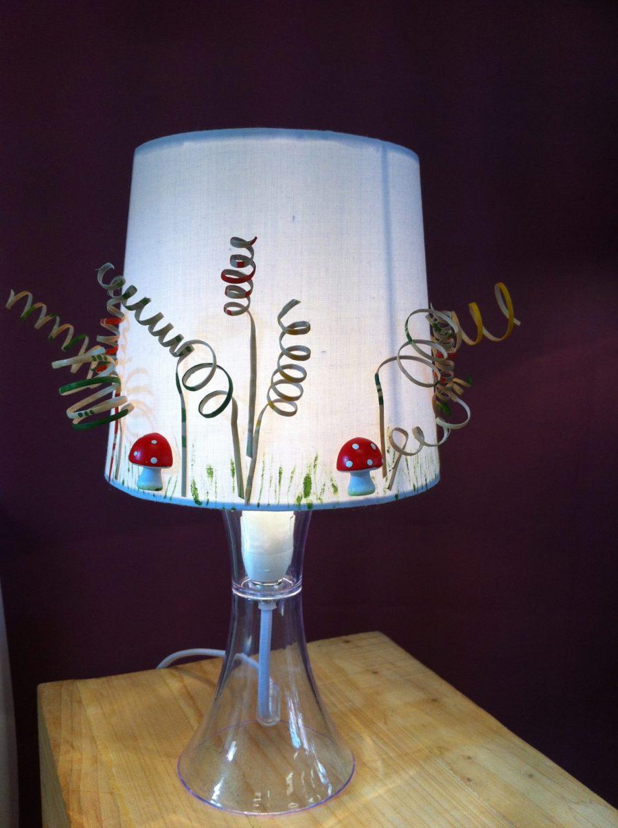lampe cannage champignon