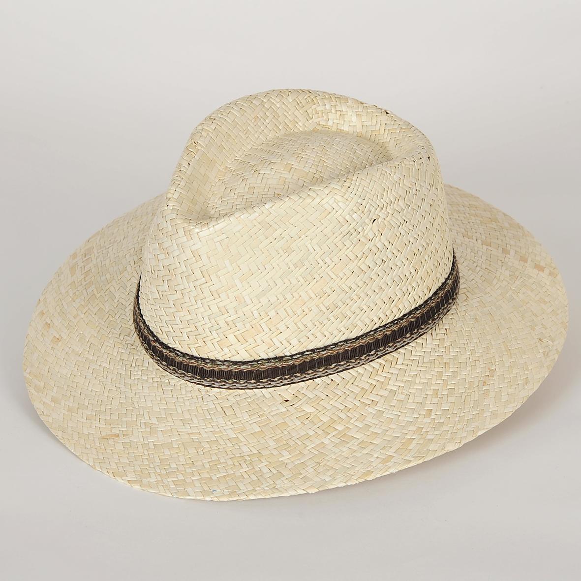 chapeau fedora en paille homme enzo sepang blanchi l 39 artisanat de sabrina. Black Bedroom Furniture Sets. Home Design Ideas