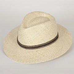 chapeau de paille sepang fedora homme blanchi