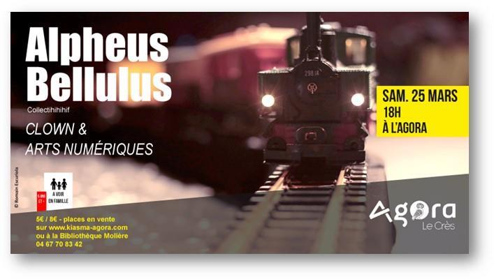 Alpheus Bellulus à l'Agora au Crès le samedi 25 mars