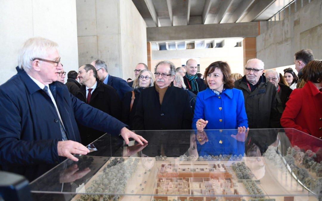 Carole Delga a visité le chantier du futur Musée régional de la Narbonne Antique