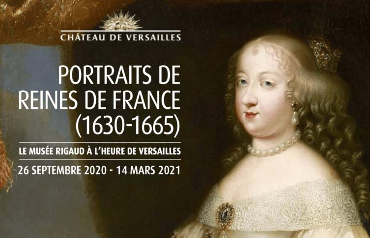 Affiche Reines de France - musée Rigaud Perpignan