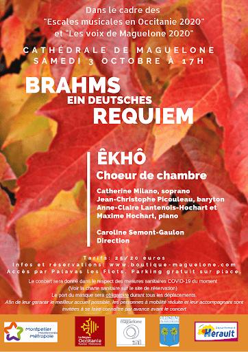 2ème concert  ÊKhô Choeur de Chambre – les 3 et 4 octobre à la Cathédrale de Maguelone