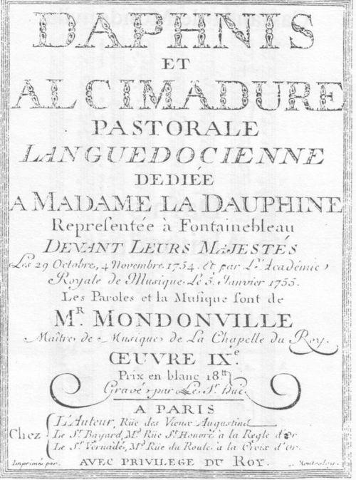 «Daphnis et Alcimadure» : un opéra occitan à la cour du Roi mis en valeur par le CIRDOC, Les Passions – Orchestre baroque de Montauban et L'Avant-Scène