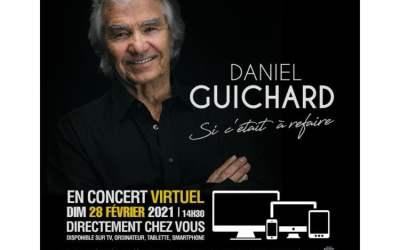 Daniel Guichard en concert virtuel au Théâtre de Béziers dimanche 28 février