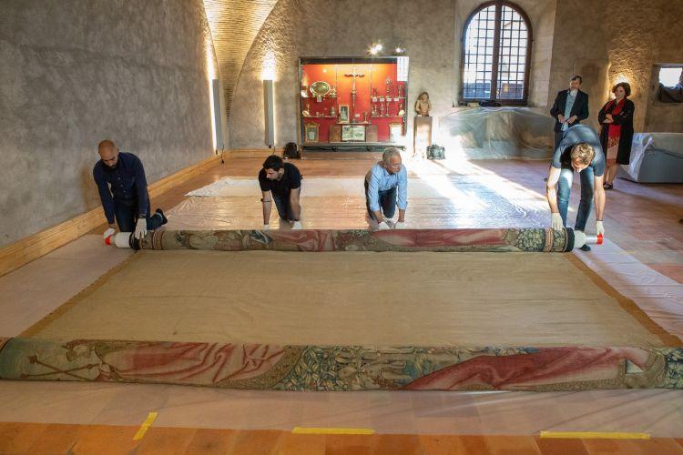 Narbonne : une tapisserie narbonnaise restaurée en Belgique et exposée au Etats-Unis