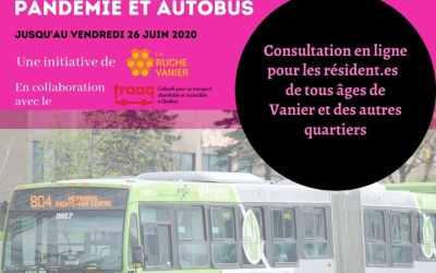 Consultation sur l'utilisation de l'autobus pendant la pandémie