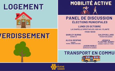 Panel de discussion – Élections municipales
