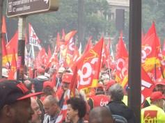 Des drapeaux CGT